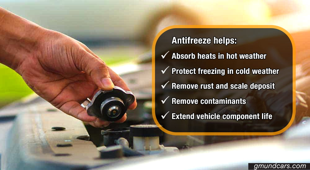 Benefits of antifreeze in radiator