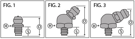 drive type grease fittings