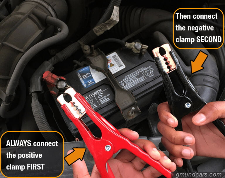 how to connect jump starter cables