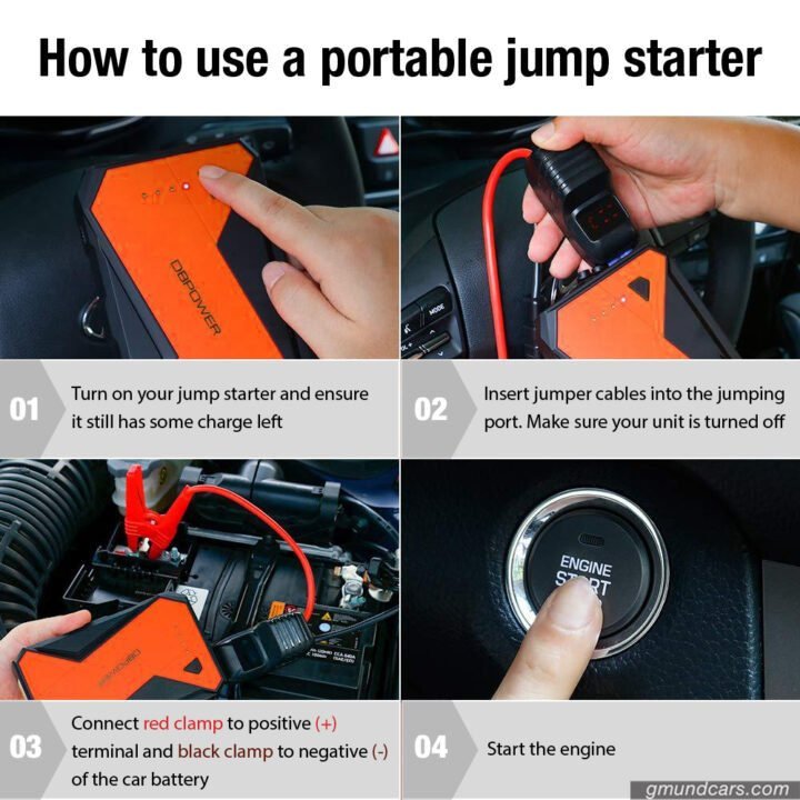 how to use jump starter