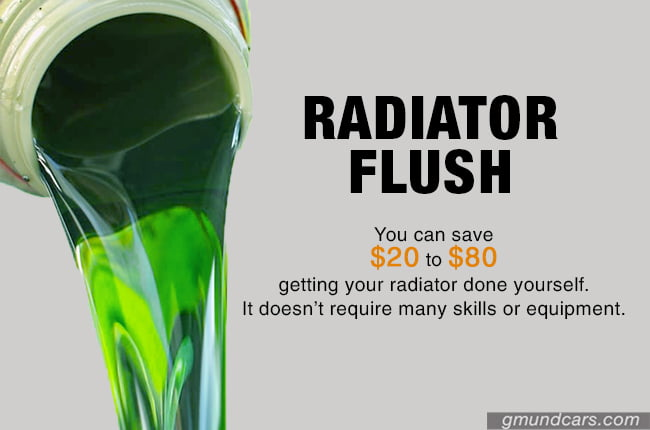 Cost saving by flushing radiator yourself