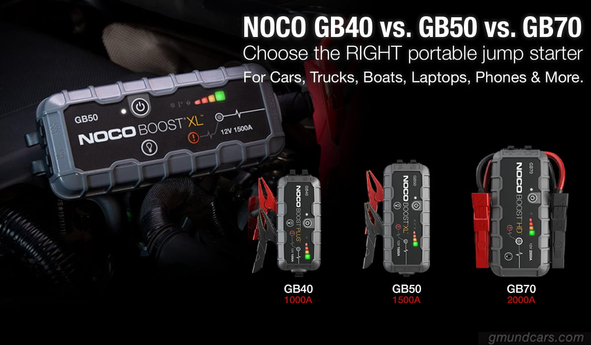 noco gb40 gb50 gb70 comparison