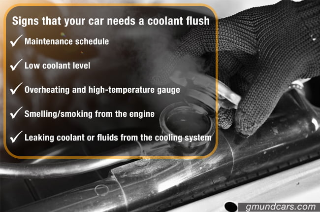 Signs that car need a radiator flush