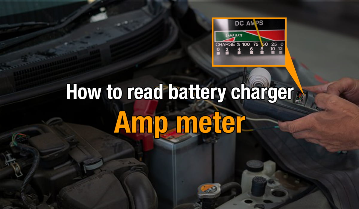 how to read battery charger amp meter
