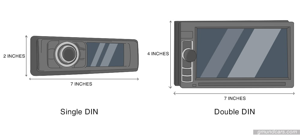 single vs double DIN head unit