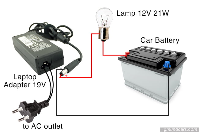 DIY battery charger system using laptop adapter