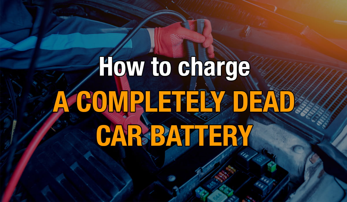 how to charge a completely dead battery