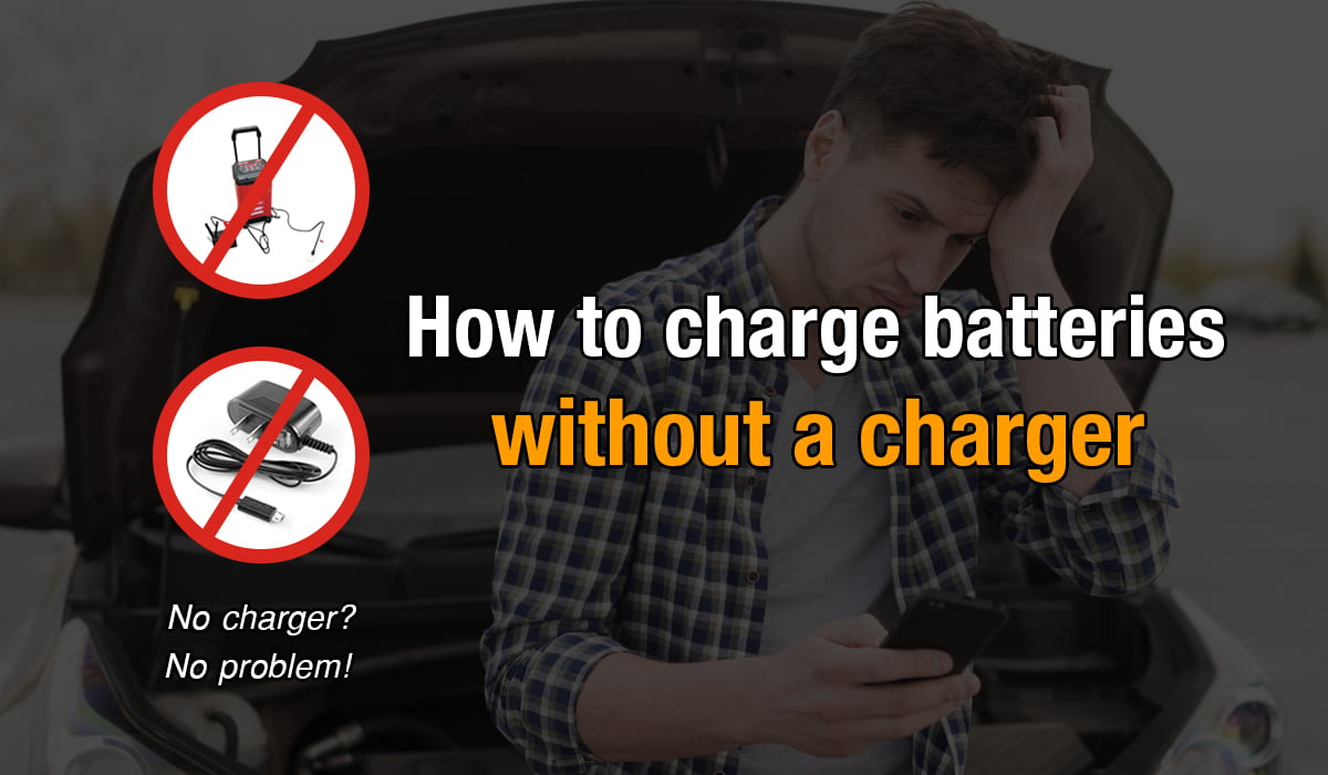 how to charge battery without charger
