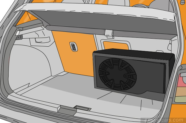 subwoofer in the trunk
