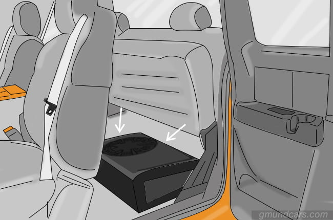 subwoofer under the seat